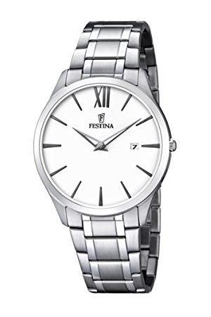 Festina Mężczyzna Zegarki - Męski zegarek na rękę analogowy kwarcowy stal szlachetna F6832/1