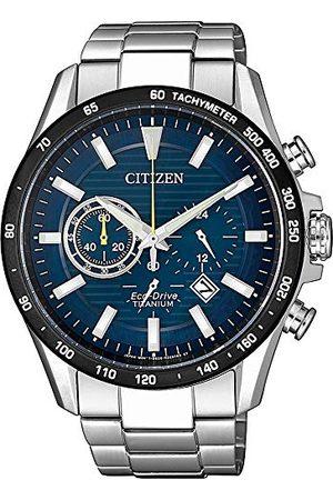 Citizen Mężczyzna Zegarki - Męski analogowy zegarek Eco-Drive z bransoletką Super Titanium CA444-82L