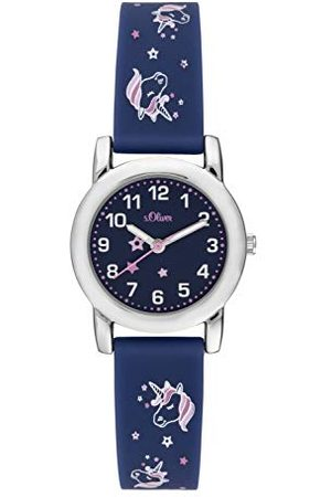 s.Oliver Dziewczęcy analogowy zegarek kwarcowy z silikonowym paskiem 27mm wielokolorowy
