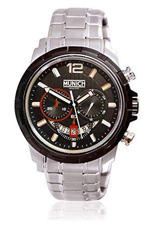 Munich Unisex dla dorosłych analogowy zegarek kwarcowy z bransoletką ze stali szlachetnej MU+105.1C