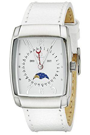 Burgmeister Męski zegarek kwarcowy z brązowym wyświetlaczem analogowym i brązową skórzaną bransoletką BM612-186