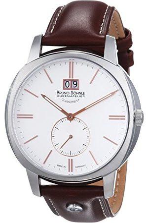Soehnle Mężczyzna Zegarki - Bruno Söhnle męski zegarek na rękę XL analogowy kwarcowy skóra 17-13146-245