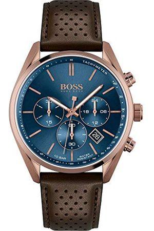 HUGO BOSS Męski chronograf kwarcowy zegarek na rękę Champion Pasek One Size