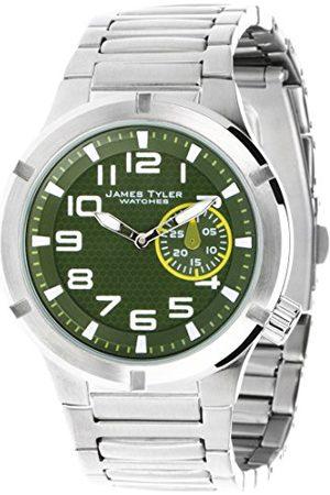 James Tyler Męski zegarek na rękę, mechanizm kwarcowy, pasek ze stali szlachetnej szczotkowanej, JT703-1