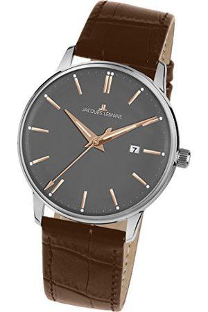 Jacques Lemans Mężczyzna Zegarki - Męski analogowy zegarek kwarcowy ze skórzanym paskiem N-213S