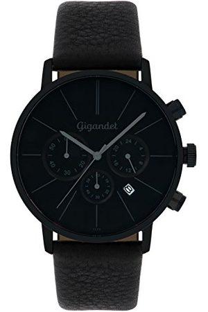 Gigandet Mężczyzna Zegarki - Minimalism męski zegarek na rękę chronograf kwarcowy analogowy ze skórzanym paskiem G32-004