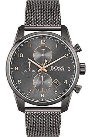 HUGO BOSS Męski zegarek chronograf Skymaster z bransoletką ze stali nierdzewnej bransoletka One Size