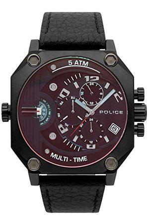 Police Męski Multi tarcza kwarcowy zegarek ze skórzanym paskiem 4895148692981