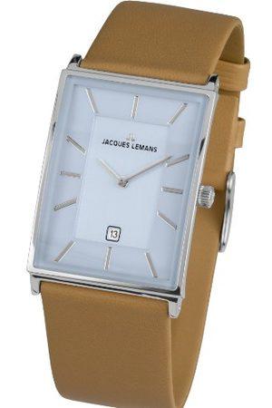 Jacques Lemans Męski zegarek na rękę York analogowy kwarcowy skóra 1-1603E