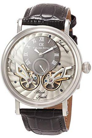 CARL VON ZEYTEN Mężczyzna Zegarki - Męski analogowy automatyczny zegarek ze skórzanym paskiem CVZ0017SGY