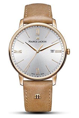 Maurice Lacroix Męski analogowy kwarcowy zegarek ze skórzanym paskiem EL1118-PVP01-111-2