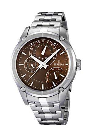 Festina Męski analogowy kwarcowy Smart Watch zegarek na rękę z bransoletką ze stali szlachetnej F16669/5