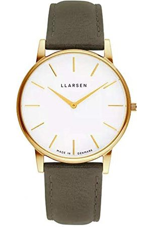 LLARSEN Męski analogowy zegarek kwarcowy ze skórzanym paskiem 147GWG3-GFOREST20
