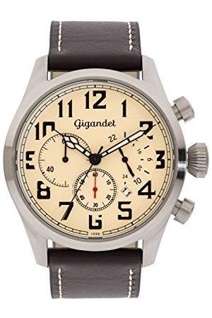Gigandet Męski chronograf kwarcowy zegarek ze skórzanym paskiem G4-004
