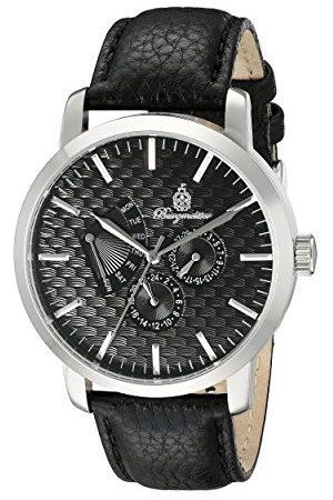 Burgmeister Męski zegarek kwarcowy z czarną tarczą analogową wyświetlaczem i czarną skórzaną bransoletką BM219-122