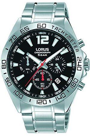 Lorus Sport męski zegarek chronograf z nakładką palladową i metalowym paskiem RT333JX9