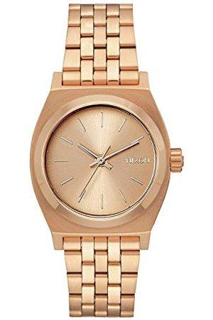 Nixon Medium Time talerz zegarek damski analogowy kwarcowy z bransoletką ze stali szlachetnej bransoletka jeden rozmiar Navy/Rose Gold