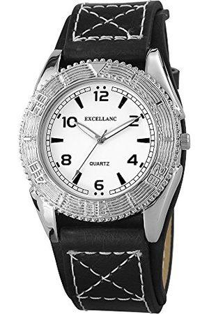 Excellanc Męski zegarek na rękę XL analogowy kwarcowy skóra 295022000110