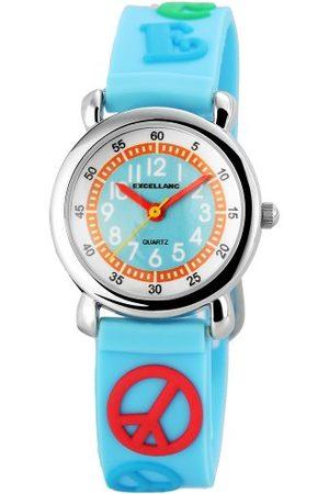 Excellanc Unisex zegarek na rękę analogowy kwarcowy kauczuk 407023500076
