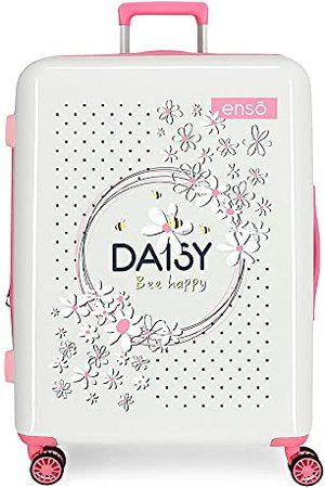 Enso Daisy Bagaż - Walizka, 48 x 70 x 28 cm, Blanco