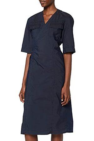 G-Star Damska sukienka biznesowa z dekoltem w serek, midi Wrap