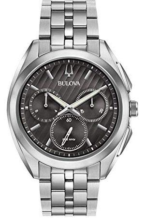 BULOVA Mężczyzna Zegarki - Męski chronograf kwarcowy zegarek z bransoletką ze stali szlachetnej 96A186