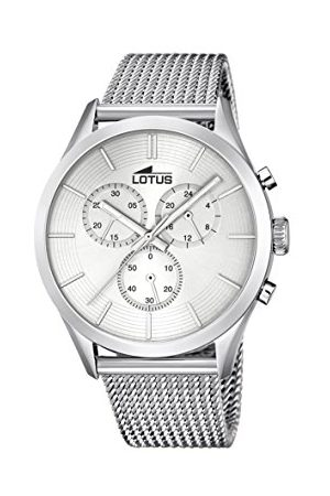 Lotus Mężczyzna Zegarki - Męski chronograf kwarcowy zegarek z bransoletką ze stali szlachetnej 18117/1