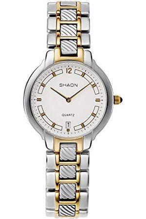 Shaon Męski analogowy zegarek kwarcowy z bransoletką Alloy 36-8002-18