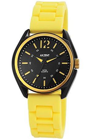 Akzent Unisex Dorośli analogowy zegarek kwarcowy z silikonowym paskiem SS867140004
