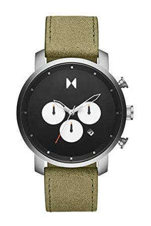MVMT Mężczyzna Zegarki - Męski analogowy zegarek kwarcowy ze skórą cielęcą ze skóry 2800008-D