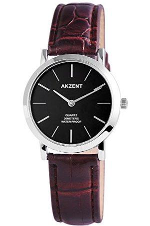 Akzent Męski analogowy zegarek kwarcowy ze skórzanym paskiem SS7721000024