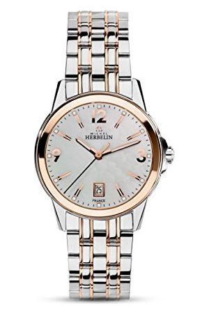 Michel Herbelin Uniseks dla dorosłych analogowy zegarek z bransoletką ze stali szlachetnej 14250/BTR19