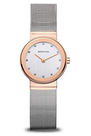 Bering Damski zegarek na rękę analogowy kwarcowy stal szlachetna 10126-066