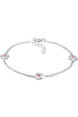 Elli Dziewczęca srebrna bransoletka z zawieszką 0204271218_14 - 14 cm długość