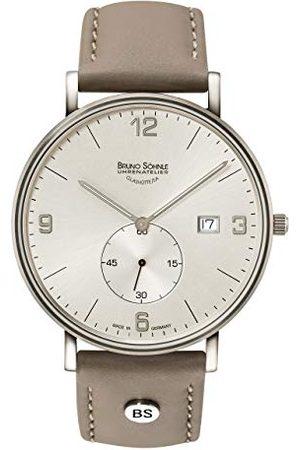 Soehnle Bruno Söhnle męski analogowy zegarek kwarcowy ze skórzanym paskiem 17-13187-261