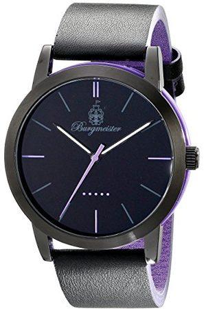 Burgmeister Ibiza męski zegarek kwarcowy z czarnym wyświetlaczem analogowym i czarnym skórzanym paskiem BM523-623B-1