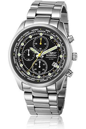 BOBROFF Mężczyzna Zegarki - Męski chronograf kwarcowy zegarek z bransoletką ze stali szlachetnej BF0024