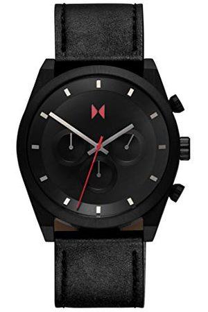 MVMT Męski analogowy zegarek kwarcowy ze skórzanym paskiem ze skóry cielęcej 2800045-D