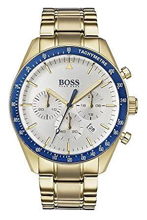 HUGO BOSS Męski zegarek kwarcowy chronograf z pozłacanym paskiem 1513631