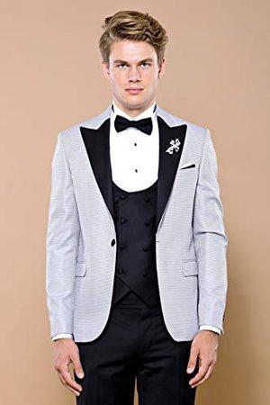 Wessi Tuxedo męskie wędzenie Slimfit Smoking ze wzorem w kropki