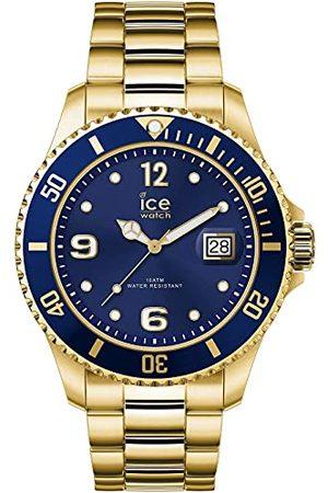Ice-Watch ICE steel Gold blue - złoty zegarek męski/unisex z metalową bransoletką - 016761 (Medium)