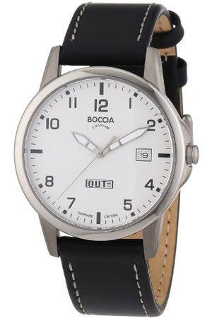 Boccia Męski zegarek na rękę skóra 3625-02