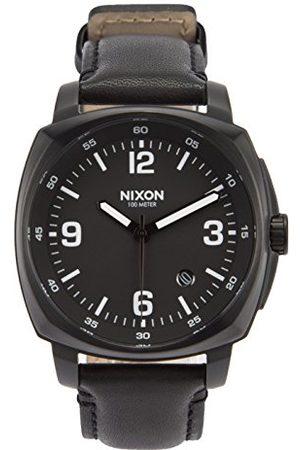 Nixon Mężczyzna Zegarki - Męski chronograf kwarcowy zegarek ze skórzanym paskiem A1077-001-00