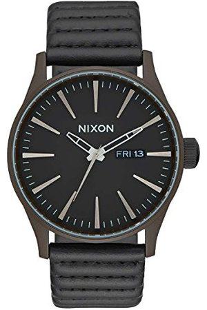 Nixon Mężczyzna Zegarki - Męski analogowy zegarek kwarcowy ze skórzanym paskiem A105-2138-00