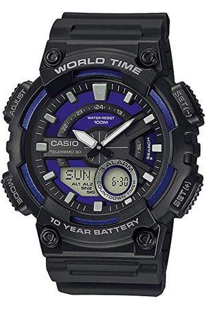 Casio Mężczyzna Zegarki - Męski analogowy – cyfrowy zegarek kwarcowy z bransoletką z żywicy AEQ-110W-2A2VEF