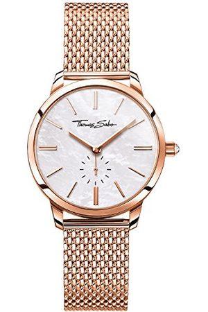 Thomas Sabo Zegarki - Unisex zegarek dla dorosłych analogowy kwarcowy stal szlachetna WA0303-265-213-33