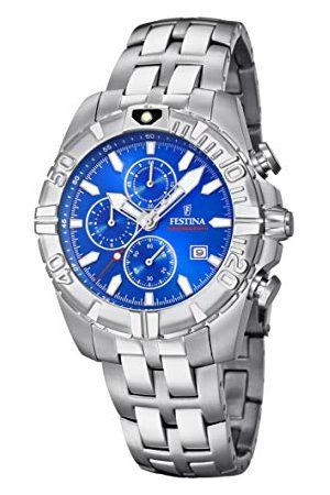 Festina Zegarek na rękę unisex dla dorosłych Chronograf kwarcowy Smart Watch z bransoletką ze stali szlachetnej F20355/1