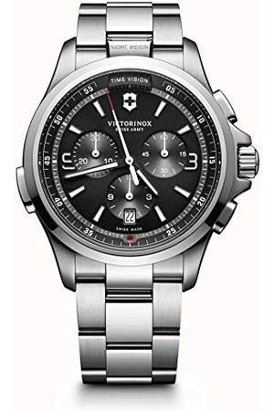 Victorinox Męski chronograf kwarcowy zegarek z bransoletką ze stali szlachetnej 241780
