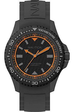 Nautica NAPMAU008 męski analogowy zegarek kwarcowy z silikonowym paskiem