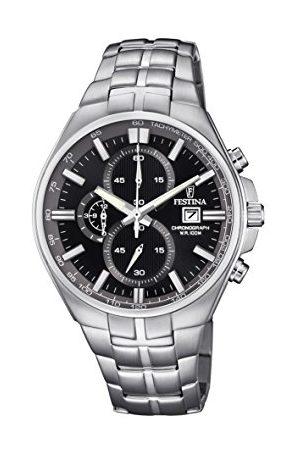 Festina Unisex Dorośli Chronograf kwarcowy zegarek z bransoletką ze stali szlachetnej F6862/4